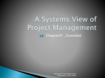 A Systems View of Project Management