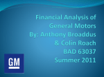 Financial Analysis of General Motors By