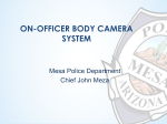 On-Officer Body Camera System
