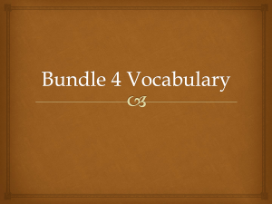 Bundle 4 Vocabulary
