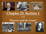"Chapter 23, Section 1 ""Hoover and the Crash"""
