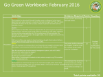 Go Green Workbook: October 2015