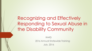 Recognizing and Effectively Responding to Sexual Abuse in the