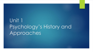 Unit 1 Psychology*s History and Approaches