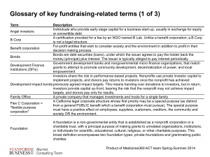 Glossary of Key Fundraising