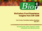BioCarbon Fund - World Bank Group