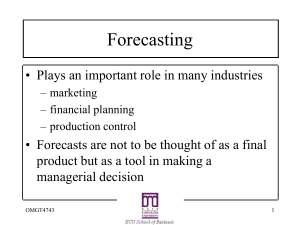 Forecasting Chapter