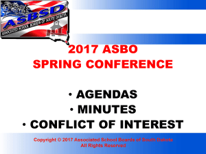 ASBO Agendas, Minutes, Conflict of Interest
