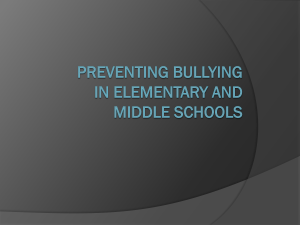 Preventing Bullying in Elementary and Middle