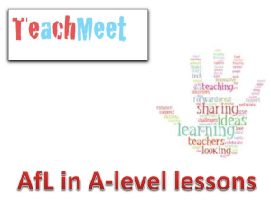 Teach meet AfL - WordPress.com