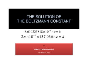 the solution of boltzmanns constant