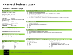 Business case on a page