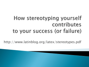 How stereotyping yourself contributes to your success