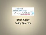 Brian Colby Policy Director - Missouri Catholic Conference