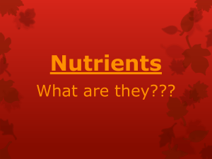 Nutrients - OnCourse