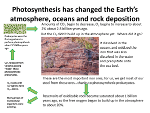 Photosynthesis and the Earth