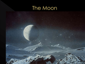 The Moon - Earth Systems A