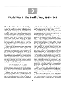 World War II: The Pacific War, 1941-1945