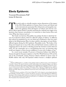 Ebola Epidemic - Fort Lewis College