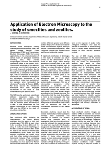 Application of Electron Microscopy to the study of smectites and