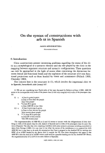 On the syntax ofconstructions with arb SE in Spanish