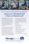 and a new TherapySouth Clinic in Homewood!