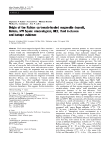 Origin of the Rubian carbonate-hosted magnesite deposit, Galicia