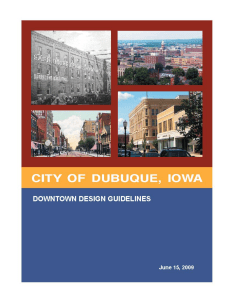 City of Dubuque - Downtown Design Guidelines