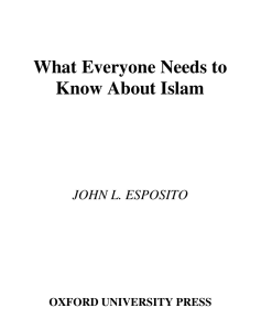 What Everyone Needs to Know About Islam
