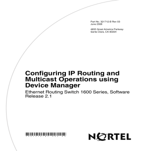 Configuring IP Routing