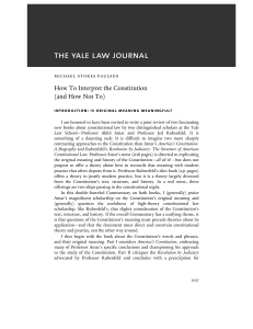 How To Interpret the Constitution (and How Not To)