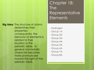 Chapter 18: The Representative Elements