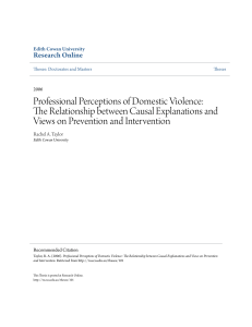 Professional Perceptions of Domestic Violence