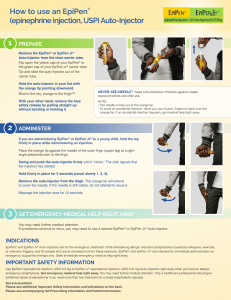 1 How to use an EpiPen® (epinephrine injection, USP) Auto