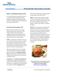 Factsheet Potentially Hazardous Foods