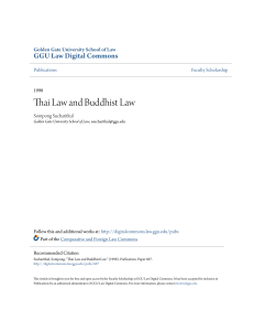 Thai Law and Buddhist Law - GGU Law Digital Commons