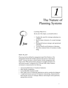 The Nature of Planning Systems