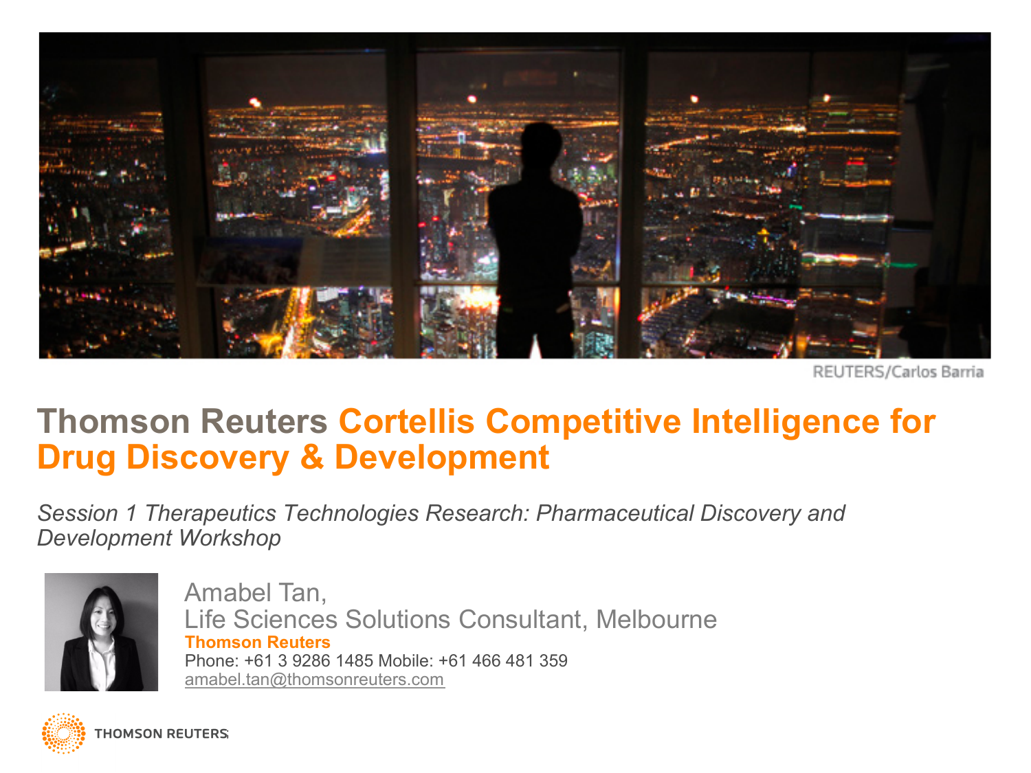Thomson Reuters Cortellis Competitive Intelligence for
