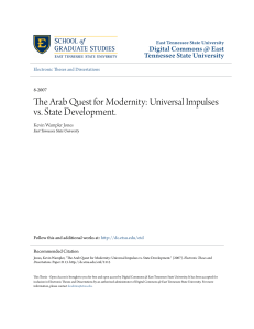 The Arab Quest for Modernity: Universal Impulses vs. State