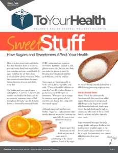 How Sugars and Sweeteners Affect Your Health