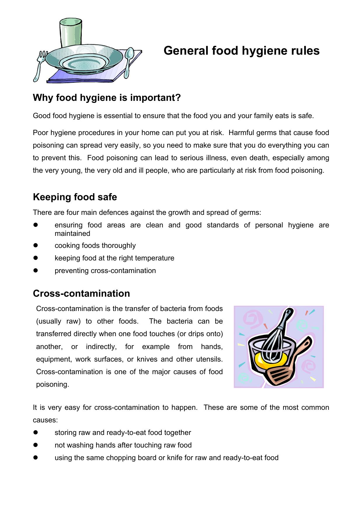 General Food Hygiene Rules