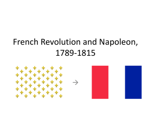 French Revolution and Napoleon, 1789-1815