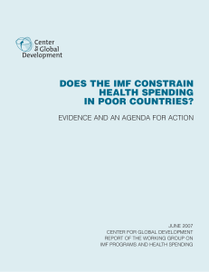 Does the IMF Constrain Health Spending in Poor Countries