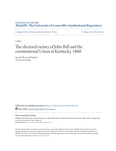 The electoral victory of John Bell and the constitutional Union