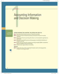 Chapter 1 - Accounting Information and Decision Making
