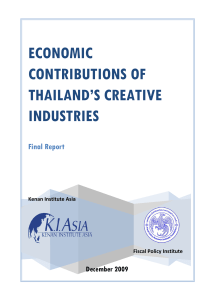 Economic Contributions of Thailand`s Creative Industries