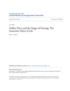 Walker Percy and the Magic of Naming