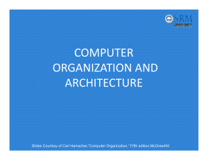 Computer Organization And Architecture Srm
