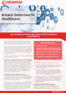 Breach Detection in Healthcare
