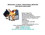 PLANT-DERIVED DRUGS
